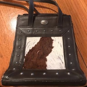 American West leather and cowhide purse